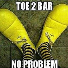 Toes to bar shoes