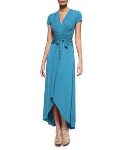 High-Low Wrap Jersey Dress  by MICHAEL Michael Kors at Neiman Marcus.