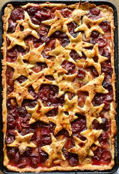Cherry Cola Slab Pie Recipe - plan this one for your Labor day menu!