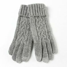 Warmen Women's Touch Screen Wool Winter Gloves Mittens for Ipad Iphone Smart Phone (Light Grey): Clothing