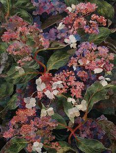 Amanda Richardson - Artist, Hydrangea Aspera J textile collage