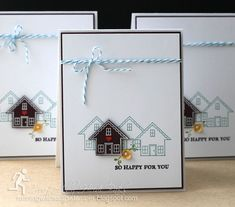 Bright Little Houses by RunningwScissorsStamper