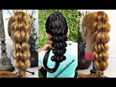 Trenza en 5D con Banditas elasticas | 5D Pull Through Braid | LPH - YouTube