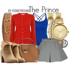 Disney Bound - The Prince (Snow White) by leslieakay on Polyvore featuring Morgan, Oasis, UGG Australia, West Coast Jewelry, BCBGeneration, FOSSIL, disney, disneybound and disneycharacter