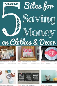 5 Sites for Saving Money on Clothes, Accessories and Decor