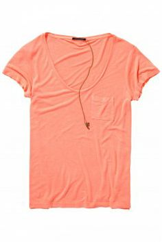 Basic T-Shirt - great colour for you- would look great with navy/white/tan colours.
