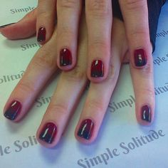 #fallcolors #fallnails #autumn #reds #deepred #gelpolishmanicure #manicured #polished #rockyournails #treatyourself #instanails #instabeauty #askforTearra