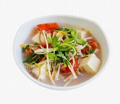 Begin your weekend on a soupy note!  Try our Tofu and Sprout Recipe!