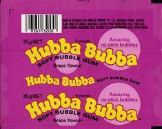 Wrigley Australia - Hubba Bubba - Grape flavour bubble gum wrapper proof - 1980's by JasonLiebig, via Flickr