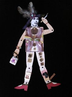 Heather Crossley - LIFE IS A DRAG - Paper Art ATC Doll