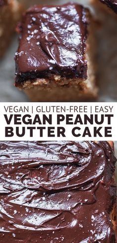 This gluten-free vegan peanut butter cake is easy to make, fluffy, and perfect for a dessert or snack. Made with a chocolate glaze, as well as undetectably dairy-free and egg-free!