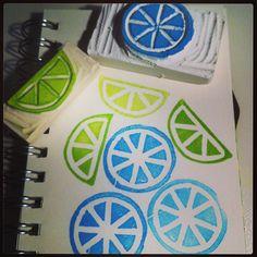 És època de llimones!! Més segells! #segells #carvedstamps #rubberstamps