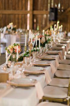 Elegant Barn Wedding Decor - A Romantic Modern-Vintage Wedding with an Elegant Barn Reception Romantic Modern-Vintage Wedding with an Elegant Barn Reception