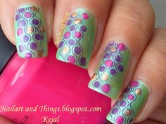 NailArt and Things: Inglot 320: Green Dot-ticure