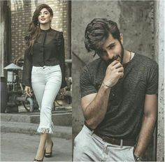 Marwa and Sheharyar Couple Posing, Couple Shoot, Couple Pictures, Star Fashion, Fashion Outfits, Stylish Outfits, Trendy Fashion, Fashion Tips, Matching Couple Outfits
