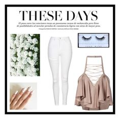 """""""Untitled #6"""" by ariadae on Polyvore featuring Topshop, Balmain and Huda Beauty"""