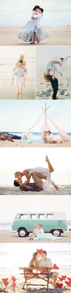 Show your love! 35 Sweet Valentine's Day Couple Photo Ideas! Romantic Beach Date