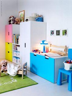 Ikea Kids Bed, Ikea Kids Storage, Ikea Cubbies, Storage Organization, Storage Ideas, Ikea Children, Children Furniture, Storage Units, Storage Room