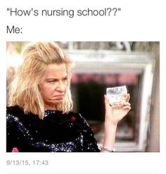 When someone asks me how nursing school is going... Hahaha!!! …