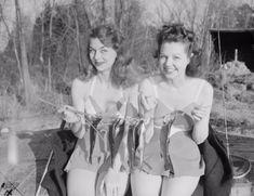 Women fishing in 1938.