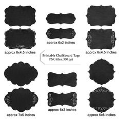 Printable Chalkboard Labels: kitchen labels, home labels, closet labels, bathroom labels, office labels, digital scrapbooking tags, clipart by DollarDigitalDesigns on Etsy