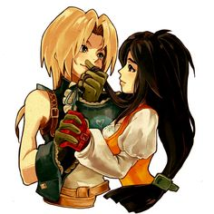 FFIX Zidane & Garnet | fanart | I get really nostalgic over this game. It's my favorite out of all the Final Fantasy games.