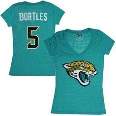 Women's Jacksonville Jaguars Blake Bortles Teal Tri-Blend Super Soft T-Shirt