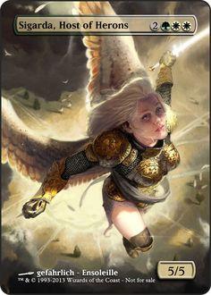 Magic the Gathering - Sigarda, Host of Herons by ASliceOfUnagi on DeviantArt