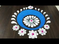 Quickest Rangoli Ever in 5 minutes by Shilpa's Creativity - YouTube