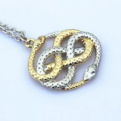 The Neverending Story Necklace Auryn Snake Pendant Necklace Cosplay Jewelry