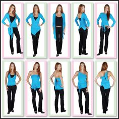 Long Multiwear Wrap Tops-Convertible winter tops, convertible ladies wrap tops, convertible clothing, many ways to wear tops.