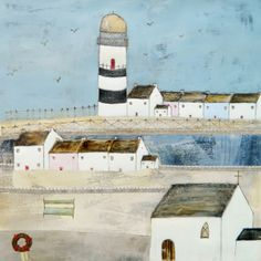 'The lighthouse on our street'  by Louise O'Hara of DrawntoStitch www.drawntostitch.com