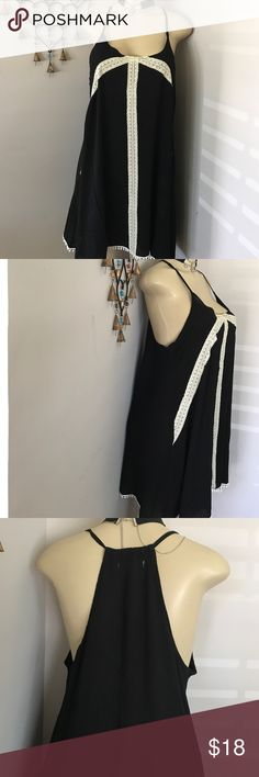 🌼SOLD🌼✨Black Loose fit tunic dress - size M Black Loose fit tunic dress - size M.  Very comfortable fit for the upcoming warmer days of spring and summer.  Open to reasonable offers.  100% Rayon Dresses Mini