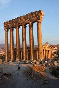 Temple of Jupiter, Baalbek, Lebanon- Maybe description of a worshiping place for the Gods?