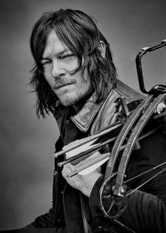 Norman Reedus as Daryl Dixon photographed by Jeff Lipsky for TV Guide Magazine