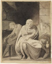 Henry Fuseli English, born Switzerland, 1741-1825  Ugolino and His Sons Starving to Death in the Tower,
