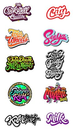 Logos / Prints part 3 on Behance Ecommerce Webdesign, Webdesign Layouts, Web Responsive, Inspiration Logo Design, Typography Inspiration, Corporate Identity Design, Calligraphy Letters, Typography Letters, Font Art