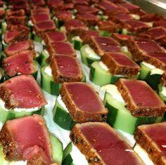 AHI Tuna pseudo-sushi ... yumm!