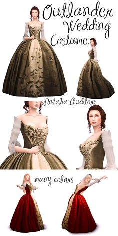 Outlander sims 4 - The Effective Pictures We Offer You About diy projects A quality picture can tell you many things. Sims 4 Mods Clothes, Sims 4 Clothing, Sims Mods, Die Sims, Sims 4 Mm, History Channel, Outlander Wedding, Rococo Dress, Sims Medieval