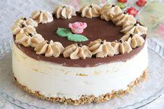 עוגת קרם גבינה, מוס אננס וגנאש שוקולד | יופי במטבח - חיה דר