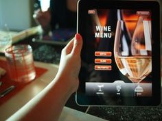 The wine list and menu are handed to you on a tablet. Corporate Event Trends- Technology.