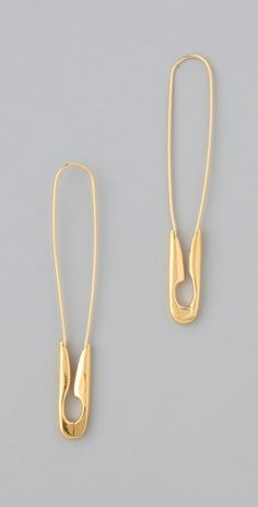 Safety Pin Earrings. Somehow they still seem elegant. Jewelry.