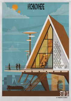 ARCHINOWHERE: A Parallel Archi-Universe Illustrated by Federico Babina Study 6 ( I think this style suitable for me ).
