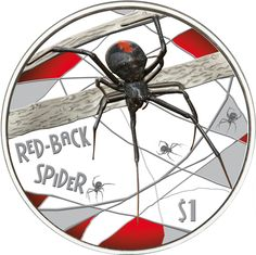 This red-back spider silver coin is the first of the bestselling Deadly & Dangerous Silver Proof Series. Beautiful colors show the beauty of the animal. Funnel Web Spider, Spider Webs, Mint Shop, Deadly, Zodiac Years, Gold And Silver Coins, Bullion Coins, Commemorative Coins, Australian Animals