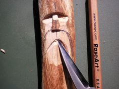 Wood Spirit Walking Stick - How to