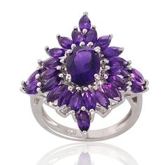 Amethyst 925 Sterling Silver Ring  February by ArihantJewelry