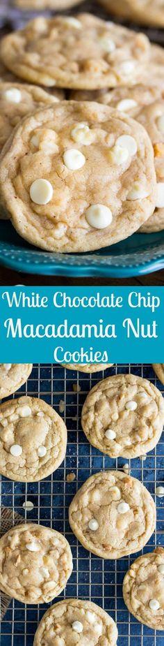 White Chocolate Chip Macadamia Nut Cookies via @sugarspunrun