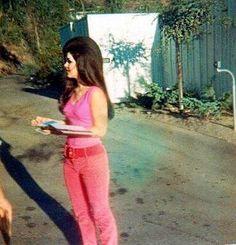 Priscilla Presley greeting fans Graceland, 1966