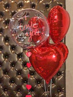 Birthday Surprise For Girlfriend Balloon Gift Idea - San Valentino Idee Number Balloons Birthday, Valentines Balloons, Valentines Day Decorations, Birthday Party Decorations, Birthday Ideas, Free Birthday, Birthday Surprise For Girlfriend, Best Birthday Surprises, Husband Birthday