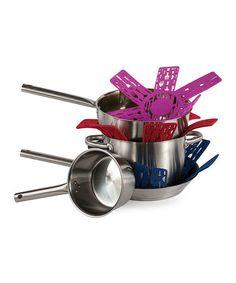 Look at this #zulilyfind! Utensils Felt Cookware Protector Set #zulilyfinds